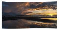 Dramatic Sunset Conclusion Beach Towel
