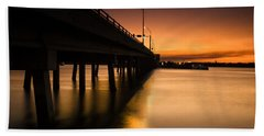 Drawbridge At Sunset Beach Towel