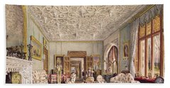 Drawing Room In The Gothic Style, C.1850 Beach Towel
