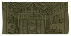 Drawing Room With Egyptian Decoration Beach Towel