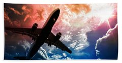 Airplane Beach Towel featuring the photograph Dream Flight by Aaron Berg