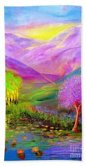 Dream Lake Beach Towel by Jane Small