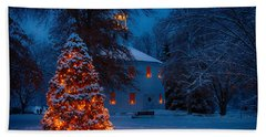 Christmas At The Richmond Round Church Beach Towel