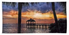 Beach Towel featuring the photograph Dream Pier by Hanny Heim