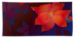 Beach Towel featuring the digital art Dreaming Wild Roses by Latha Gokuldas Panicker