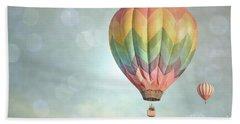 Dreamy Balloon Pair Sky Beach Sheet by Andrea Hazel Ihlefeld