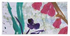 Dreamy Day Flowers Beach Towel
