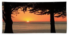 Dreamy Day's End Beach Towel by E Faithe Lester