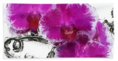 Beach Towel featuring the digital art Dreamy Orchids by Anthony Fishburne