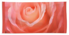Dreamy Pink Rose Beach Towel