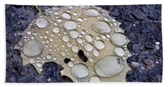 Drenched Leaf Beach Towel
