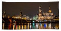 Dresden By Night Beach Towel