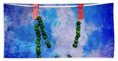 Dried Peas Beach Towel by Randi Grace Nilsberg