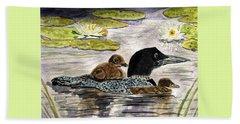 Drifting Among The Waterlilies Beach Sheet by Angela Davies