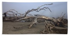Driftwood Trees On Jekyll Island Beach Towel