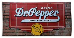 Drink Dr. Pepper - Good For Life Beach Sheet by Stephen Stookey