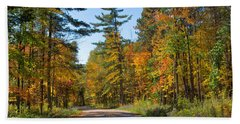 Drive Through Splendor In Minnesota Beach Towel