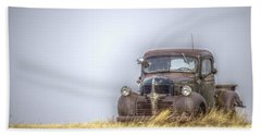 A Rusty Abandoned Truck Near Sturgis South Dakota Beach Towel