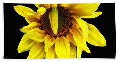 Droops Sunflower With Oil Painting Effect Beach Towel by Rose Santuci-Sofranko