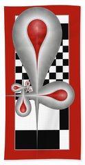 Drops On A Chess Board Beach Towel by Gabiw Art