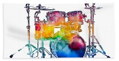 Drum Set Beach Towel