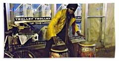 Beach Towel featuring the photograph Drumma Man II by Kelly Awad