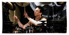 Drummer Terry Bozzio Beach Towel