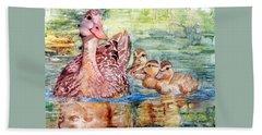 Duck Family Beach Sheet