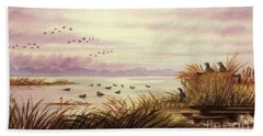 Duck Hunting Companions Beach Sheet