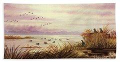 Duck Hunting Companions Beach Towel