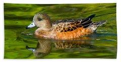 Young Female Mallard Duck Beach Towel