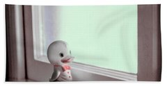 Duckie At The Window Beach Towel by Yo Pedro