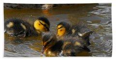 Duckling Splash Beach Towel