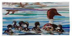Ducks In A Row Beach Sheet