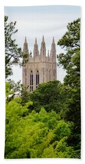 Duke Chapel Beach Towel by Cynthia Guinn