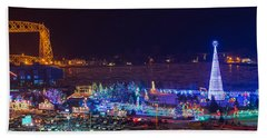 Duluth Christmas Lights Beach Sheet