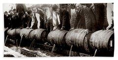 Dump The Beer Beach Sheet by Jon Neidert
