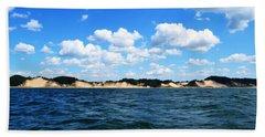 Dunes And Lake Michigan Beach Towel