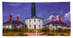 Beach Towel featuring the photograph Dungeness Old Lighthouse by Chris Lord
