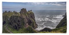 Dunnottar Castle And The Scotland Coast Beach Towel