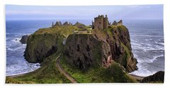 Dunnottar Castle Panorama Beach Towel