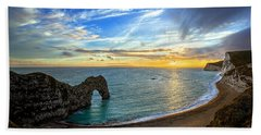 Durdle Door Sunset Beach Towel
