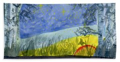 Dusky Scene Of Stars And Beans Beach Towel