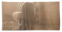 Dusty Morning Pedicure Beach Towel by Carol Lynn Coronios