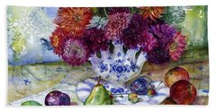 Dutch Dahlia Delights Beach Towel