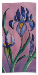Dutch Irises Beach Towel