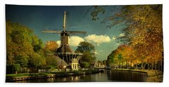 Dutch Windmill Beach Towel