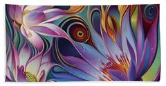 Dynamic Floral Fantasy Beach Towel