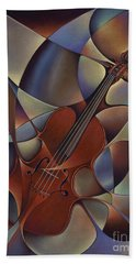 Dynamic Violin Beach Towel