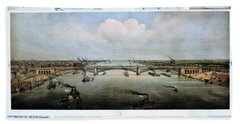 Eads Bridge Drawings Beach Towel